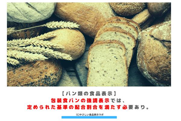 【パン類の食品表示】包装食パンの強調表示では、定められた基準の配合割合を満たす必要あり。 アイキャッチ