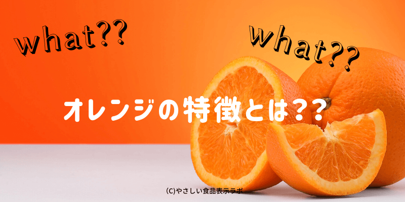 オレンジの特徴とは??