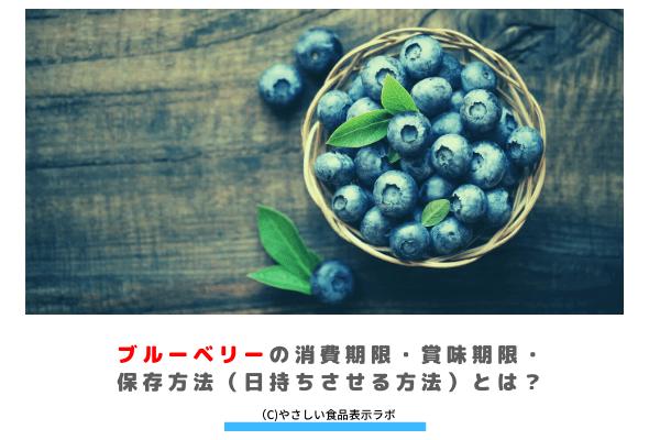 ブルーベリーの消費期限・賞味期限・保存方法(日持ちさせる方法)とは? アイキャッチ