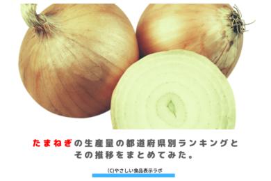 たまねぎの生産量(収穫量)の都道府県別ランキングとその推移をまとめてみた。 アイキャッチ
