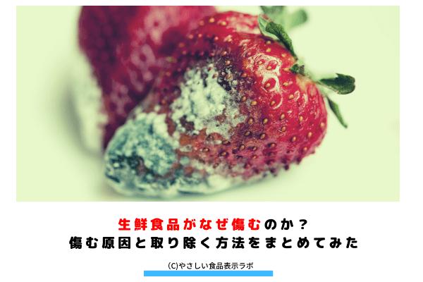 生鮮食品がなぜ傷むのか?傷む原因と取り除く方法をまとめてみた アイキャッチ